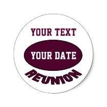 Custom Reunion Sticker You Can Personalize by alumni_reunion
