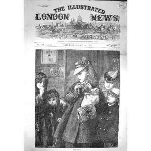 1872 Good Friday Scene Hot Cross Buns Ship Children: Home