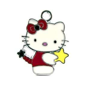 12X DIY Jewelry Making Hello Kitty Yellow Star Enamel