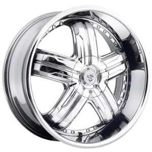 TIS 533 24x9.5 Chrome Wheel / Rim 5x4.5 & 5x4.75 with a 18mm Offset