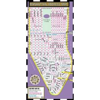 Streetwise Manhattan Address Map   Laminated Address Locator Map for