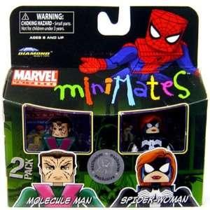 Exclusive Mini Figure 2Pack Molecule Man SpiderWoman Toys & Games