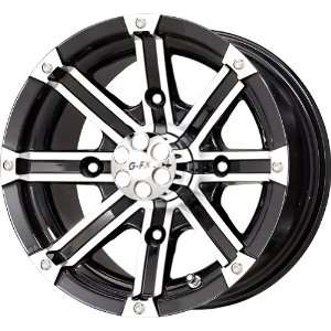 Barrel Gloss Black Machined ATV Wheel (12x7/4x156mm) Automotive