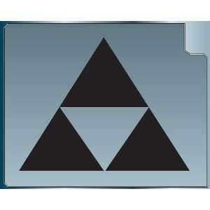 TRIFORCE LOGO #2 from the Legend of Zelda BLACK vinyl decal sticker 6