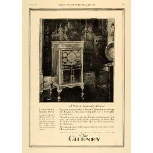 1920 Ad Cheney Talking Machines Furniture Music Phono   Original Print