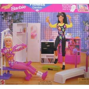 Workin Out Barbie FITNESS CENTER Playset (1997 Arcotoys