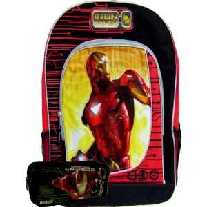 Awesome Iron Man Backpack Large Free Black Pencil Case Toys & Games