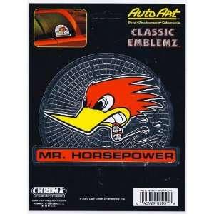 Mr Horsepower Decal Sticker Classic Emblemz Chrome