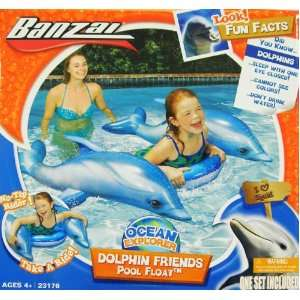 Banzai Ocean Explorer Dolphin Friends Pool Float Toy Toys