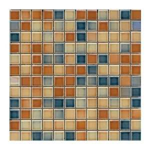 Interceramic Intertech Color Line Mix Mosaic 1 x 1 Dark Tobacco/Dark