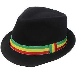 Rasta Fedora Hat Cap Tosh Reggae Dancehall Bingi Bongo Irie Marley S