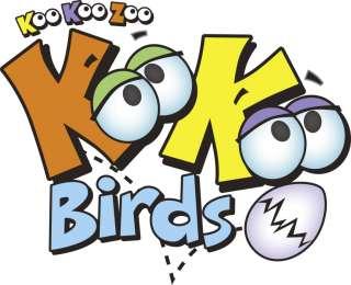 KooKoo Zoo Flocked Birds 2 Pack #106 & #110 Lollapalooza & Scalawag
