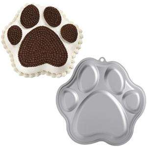 WILTON Paw Print Pan 2105 0252 Dog Bear Animal Foot 070896302526