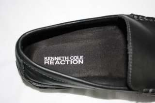 88 Kenneth Cole Reaction Men Driving Shoes Black leather casual World