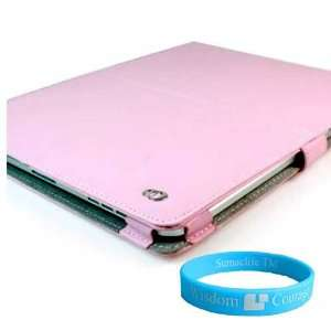Pink Melrose leather Case for iPad for Apple iPad + Wisdom