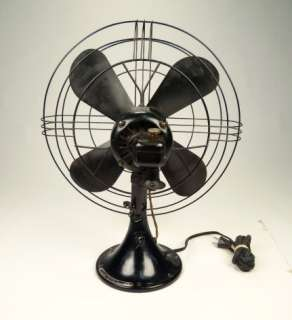 ANTIQUE GENERAL ELECTRIC OSCILATING ART DECO FAN