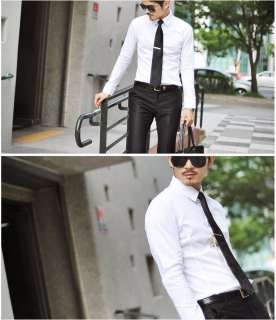 Mens Casual Slim fit Stylish Long Sleeve Dress Shirts 8 Color