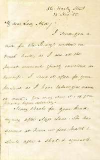 JAMES BUCHANAN   AUTOGRAPH LETTER SIGNED 11/13/1855