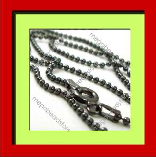 18 inches 1.5mm Dark Oxidized 925 Sterling Silver Bead Chain Italy