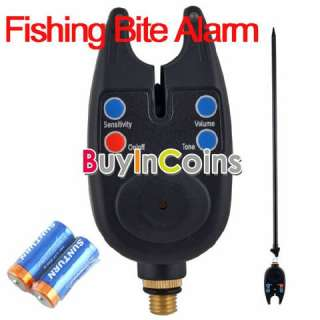 Carp Coarse Digital Fishing Rod Audio Bite Alarm LED Alert Adjust Tone