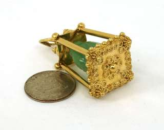BEAUTIFUL 18K GOLD & HAND CARVED JADE BUDDHA CHARM