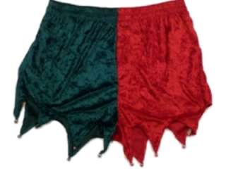 Mens Green & Red Elf Boxers Holiday Jingle Bells Boxer Shorts Velvet