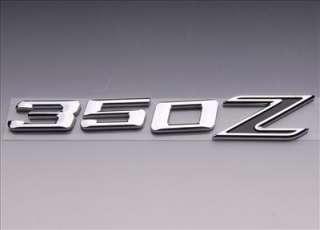3D BLACK LETTERS TRUNK EMBLEM NISSAN 350Z CHROME BADGE