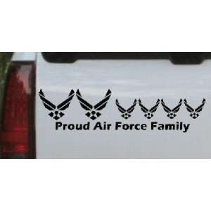 Proud Air Force Stick Family 4 Kids Stick Family Car Window Wall