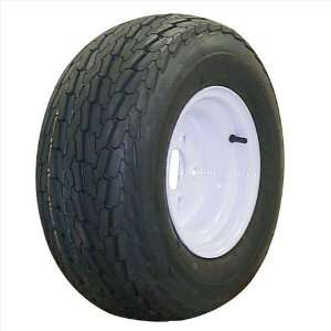 10 x 6 Solid White Steel Trailer Wheel 5x4.5 on 20.5x8 10