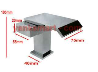 Wide Mouth Bathroom Waterfall Faucet Mixer Tap 9705