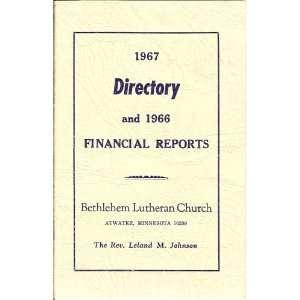 Lutheran Church, Atwater, Minnesota 56209: Leland M. Johnson: Books