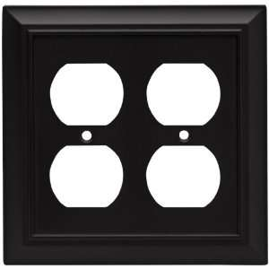 Liberty Hardware 64210 Architectural Double Duplex Wall Plate, Flat