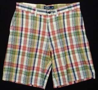 NWT Polo Ralph Lauren Plaid Prospect Golf Shorts NEW