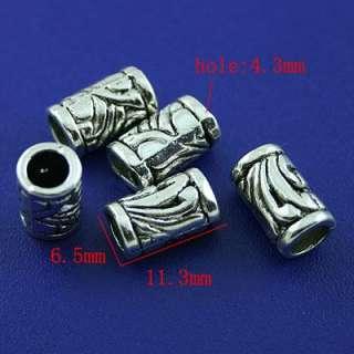 description20pcs Tibetan silver Columniform Beads Spacer h1465