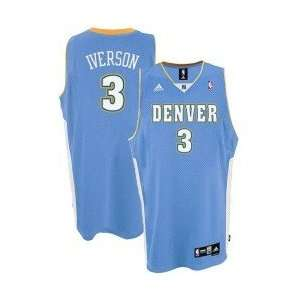 adidas Denver Nuggets #3 Allen Iverson Youth Light Blue