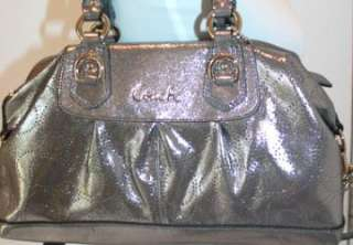 NWT COACH ASHLEY PERFORATED LEATHER SATCHEL BAG 17130 |