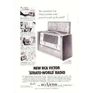 RCA Victor Strato World 3BX671 7 Band Radio Original Vintage Print Ad
