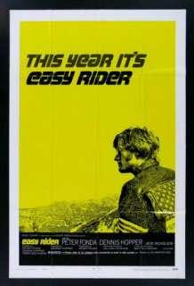 EASY RIDER * 1SH BIKER MOTORCYCLE MOVIE POSTER 1969