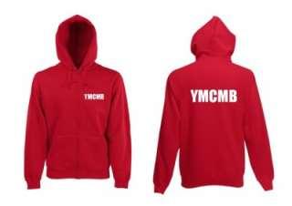 YMCMB ZIP UP HOODIE LIL WAYNE BIEBER MENS NEW YMCMB