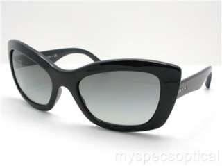 Prada SPR 19M 1AB 3M1 Black Grey Gradient New Sunglass 100% Authentic
