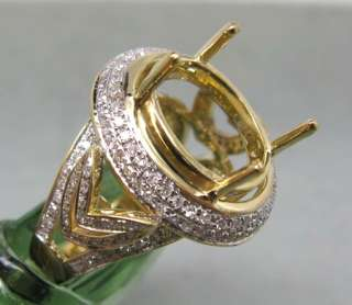 OVAL SOLID 14K Y/GOLD DIAMOND SETTING SEMI RING MOUNT