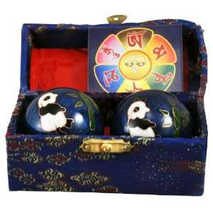 Chinese Cloisonne Chi Health Hand Massage Balls Health