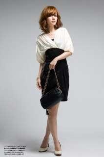 neck Collar Three quarter Sleeve Elegant Dress Skirt