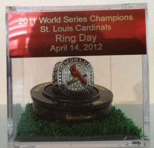 ST LOUIS CARDINALS 2011 WORLD SERIES ORIGINAL RING CASE