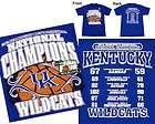 2012 kentucky wildcats men s ncaa basketball national champion tee