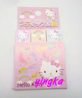 HELLO KITTY Sticky Memo Note Labels 30 sheets x 3 pads