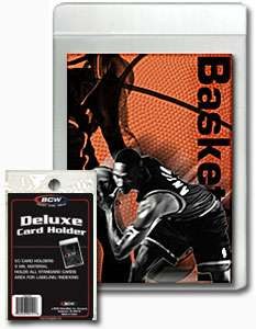 Case 2000 BCW Semi Rigid Deluxe Card Holders 50ct packs