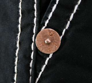 True Religion Jeans Mens Cargo Shorts BIG T Black NEW