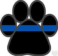 Thin Blue Line K9 Paw 4x4 Decal