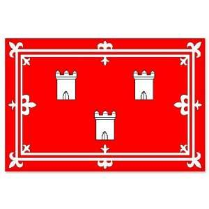 Aberdeen City Flag car bumper sticker window decal 5 x 3